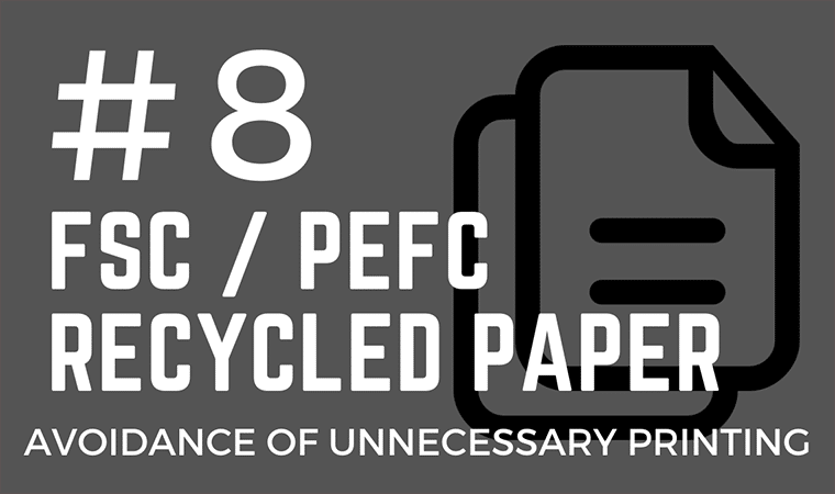 Reduce paper consumption at events
